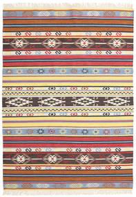 Kelim - Navaja - Navaja Vloerkleed 170X240 Echt Modern Handgeweven Beige/Zwart ( India)