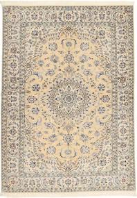 Nain 6La Habibian Vloerkleed 145X207 Echt Oosters Handgeknoopt Beige/Lichtgrijs (Wol/Zijde, Perzië/Iran)