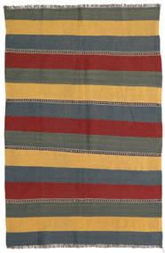 Kelim Vloerkleed 132X198 Echt Oosters Handgeweven Blauw/Donkerrood (Wol, Perzië/Iran)