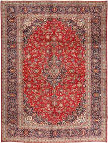 Keshan Vloerkleed 305X410 Echt Oosters Handgeknoopt Donkerrood/Roestkleur Groot (Wol, Perzië/Iran)