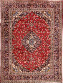 Keshan Signature : Kashan Feyzi Vloerkleed 300X400 Echt Oosters Handgeknoopt Donkerrood/Donkerbruin/Roestkleur Groot (Wol, Perzië/Iran)