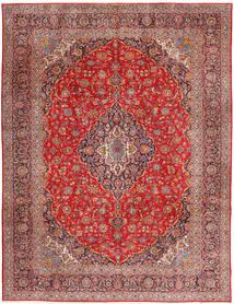Keshan Vloerkleed 315X420 Echt Oosters Handgeknoopt Donkerrood/Roestkleur Groot (Wol, Perzië/Iran)