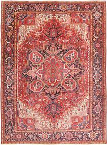 Heriz Vloerkleed 260X354 Echt Oosters Handgeknoopt Roestkleur/Donkerbruin Groot (Wol, Perzië/Iran)