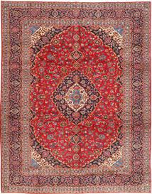 Keshan Vloerkleed 303X388 Echt Oosters Handgeknoopt Donkerrood/Roestkleur Groot (Wol, Perzië/Iran)