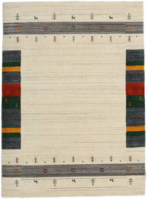 Loribaf Loom Designer - Beige Vloerkleed 140X200 Modern Donkerbeige/Beige (Wol, India)