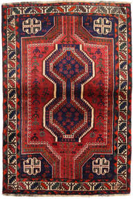 Shiraz Vloerkleed 111X162 Echt Oosters Handgeknoopt Donkerrood/Zwart (Wol, Perzië/Iran)