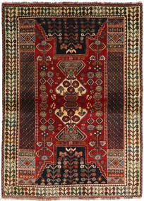Ghashghai Vloerkleed 115X160 Echt Oosters Handgeknoopt Donkerbruin/Donkerrood (Wol, Perzië/Iran)