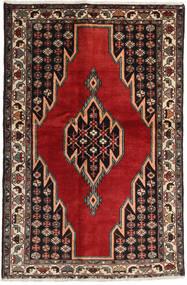 Afshar/Sirjan Vloerkleed 132X200 Echt Oosters Handgeknoopt Donkerbruin/Donkerrood (Wol, Perzië/Iran)