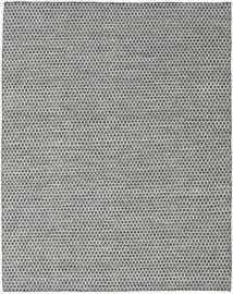 Kelim Honey Comb - Zwart/Grijs Vloerkleed 190X240 Echt Modern Handgeweven Lichtgrijs/Donkergrijs (Wol, India)