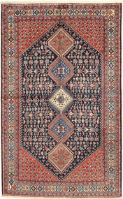 Yalameh Vloerkleed 157X255 Echt Oosters Handgeknoopt Donkergrijs/Donkerrood (Wol, Perzië/Iran)