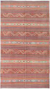 Kelim Turkije Vloerkleed 196X353 Echt Oosters Handgeweven Bruin/Roestkleur (Wol, Turkije)
