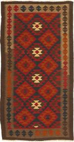 Kelim Maimane Vloerkleed 100X191 Echt Oosters Handgeweven Donkerbruin/Roestkleur (Wol, Afghanistan)