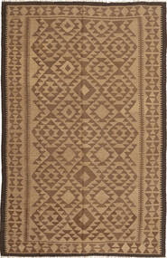 Kelim Vloerkleed 160X246 Echt Oosters Handgeweven Bruin/Lichtbruin (Wol, Perzië/Iran)