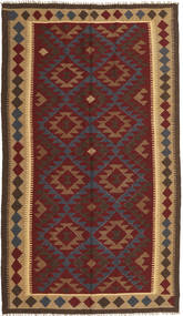 Kelim Maimane Vloerkleed 150X259 Echt Oosters Handgeweven Donkerrood/Zwart (Wol, Afghanistan)