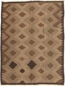 Kelim Vloerkleed 143X191 Echt Oosters Handgeweven Bruin/Lichtbruin (Wol, Perzië/Iran)