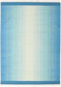 Ikat - Blauw/Turkoois Vloerkleed 210X290 Echt Modern Handgeweven Lichtblauw/Turquoise Blauw (Wol, India)
