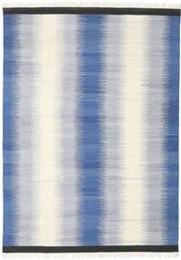 Ikat - Blauw Vloerkleed 210X290 Echt Modern Handgeweven Beige/Lichtgrijs/Blauw (Wol, India)
