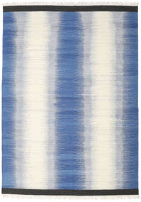 Ikat - Blauw Vloerkleed 240X340 Echt Modern Handgeweven Blauw/Beige (Wol, India)
