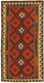Kelim Maimane Vloerkleed 99X194 Echt Oosters Handgeweven Roestkleur/Donkerbruin (Wol, Afghanistan)