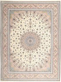 Isfahan Zijden Pool Vloerkleed 315X420 Echt Oosters Handgeknoopt Lichtgrijs/Beige Groot (Wol/Zijde, Perzië/Iran)