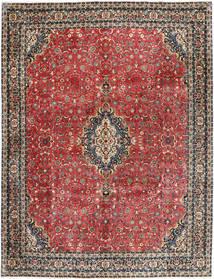 Bidjar Met Zijde Vloerkleed 297X385 Echt Oosters Handgeknoopt Donkerrood/Donkergrijs Groot (Wol/Zijde, Perzië/Iran)