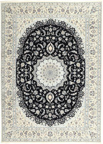 Nain 6La Vloerkleed 250X340 Echt Oosters Handgeknoopt Lichtgrijs/Beige Groot (Wol/Zijde, Perzië/Iran)
