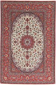 Isfahan Zijden Pool Vloerkleed 155X240 Echt Oosters Handgeknoopt Donkerrood/Lichtgrijs (Wol/Zijde, Perzië/Iran)