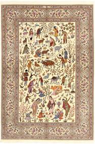 Ilam Sherkat Farsh Zijde Vloerkleed 150X220 Echt Oosters Handgeknoopt Beige/Bruin/Lichtbruin (Wol/Zijde, Perzië/Iran)