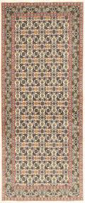 Tabriz 50 Raj Vloerkleed 82X205 Echt Oosters Handgeknoopt Tapijtloper Lichtgrijs/Beige (Wol/Zijde, Perzië/Iran)