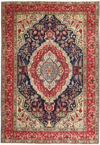 Tabriz Patina Vloerkleed 247X360 Echt Oosters Handgeknoopt Donkerrood/Donkergrijs (Wol, Perzië/Iran)