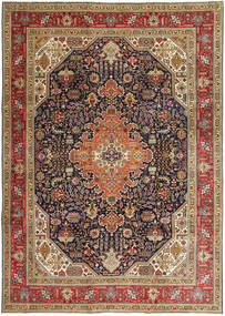 Tabriz Patina Vloerkleed 245X348 Echt Oosters Handgeknoopt Lichtbruin/Donkerbruin (Wol, Perzië/Iran)