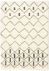 Berber Indiaas - Off-Wit/Zwart Vloerkleed 120X180 Echt Modern Handgeknoopt Beige/Wit/Creme (Wol, India)