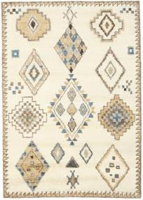 Berber Indiaas - Gebroken Wit/Beige Vloerkleed 160X230 Echt Modern Handgeknoopt Beige/Lichtbruin (Wol, India)