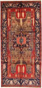 Koliai Vloerkleed 153X318 Echt Oosters Handgeknoopt Tapijtloper Donkerrood/Roestkleur (Wol, Perzië/Iran)
