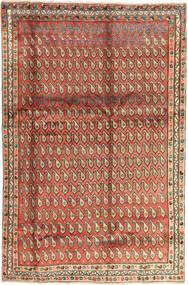 Afshar Vloerkleed 195X295 Echt Oosters Handgeknoopt Donkerrood/Donkerbruin (Wol, Perzië/Iran)