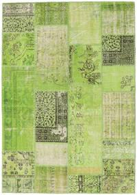 Patchwork Vloerkleed 161X232 Echt Modern Handgeknoopt Lichtgroen/Groen (Wol, Turkije)