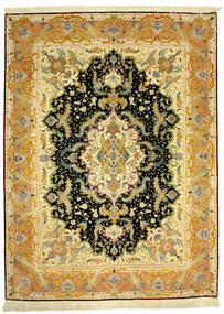 Tabriz 70Raj Silke Varp Vloerkleed 152X205 Echt Oosters Handgeknoopt (Wol/Zijde, Perzië/Iran)