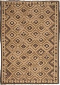Kelim Maimane Vloerkleed 162X232 Echt Oosters Handgeweven Bruin/Lichtbruin (Wol, Afghanistan)