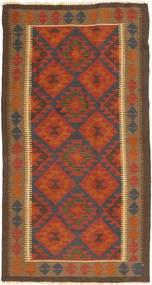 Kelim Maimane Vloerkleed 101X194 Echt Oosters Handgeweven Bruin/Donkerbruin (Wol, Afghanistan)