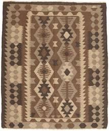 Kelim Maimane Vloerkleed 157X179 Echt Oosters Handgeweven Bruin/Donkerbruin (Wol, Afghanistan)