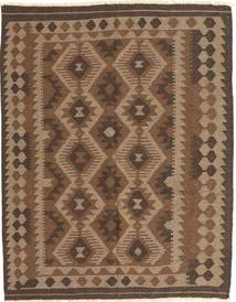 Kelim Maimane Vloerkleed 148X187 Echt Oosters Handgeweven Bruin/Donkerbruin (Wol, Afghanistan)