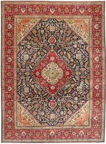 Tabriz Patina Vloerkleed 292X400 Echt Oosters Handgeknoopt Donkerbruin/Donkerrood Groot (Wol, Perzië/Iran)