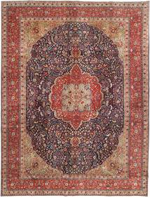 Tabriz Patina Vloerkleed 292X385 Echt Oosters Handgeknoopt Donkerrood/Donkerbruin Groot (Wol, Perzië/Iran)