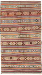 Kelim Turkije Vloerkleed 166X295 Echt Oosters Handgeweven Lichtgrijs/Donkerrood (Wol, Turkije)