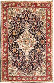 Tabriz Patina Vloerkleed 192X303 Echt Oosters Handgeknoopt Donkerbruin/Donkerrood (Wol, Perzië/Iran)