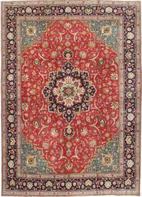 Tabriz Patina Vloerkleed 290X397 Echt Oosters Handgeknoopt Roestkleur/Donkerrood Groot (Wol, Perzië/Iran)
