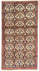 Koliai Vloerkleed 100X187 Echt Oosters Handgeknoopt Bruin/Donkerrood/Beige (Wol, Perzië/Iran)