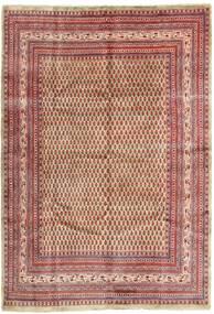 Sarough Mir Vloerkleed 215X315 Echt Oosters Handgeknoopt Donkerrood/Beige (Wol, Perzië/Iran)