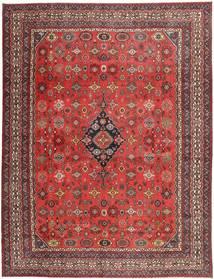 Hamadan Shahrbaf Patina Vloerkleed 313X413 Echt Oosters Handgeknoopt Donkerrood/Roestkleur Groot (Wol, Perzië/Iran)