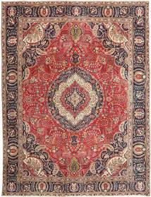 Tabriz Patina Vloerkleed 288X375 Echt Oosters Handgeknoopt Donkerrood/Roestkleur Groot (Wol, Perzië/Iran)